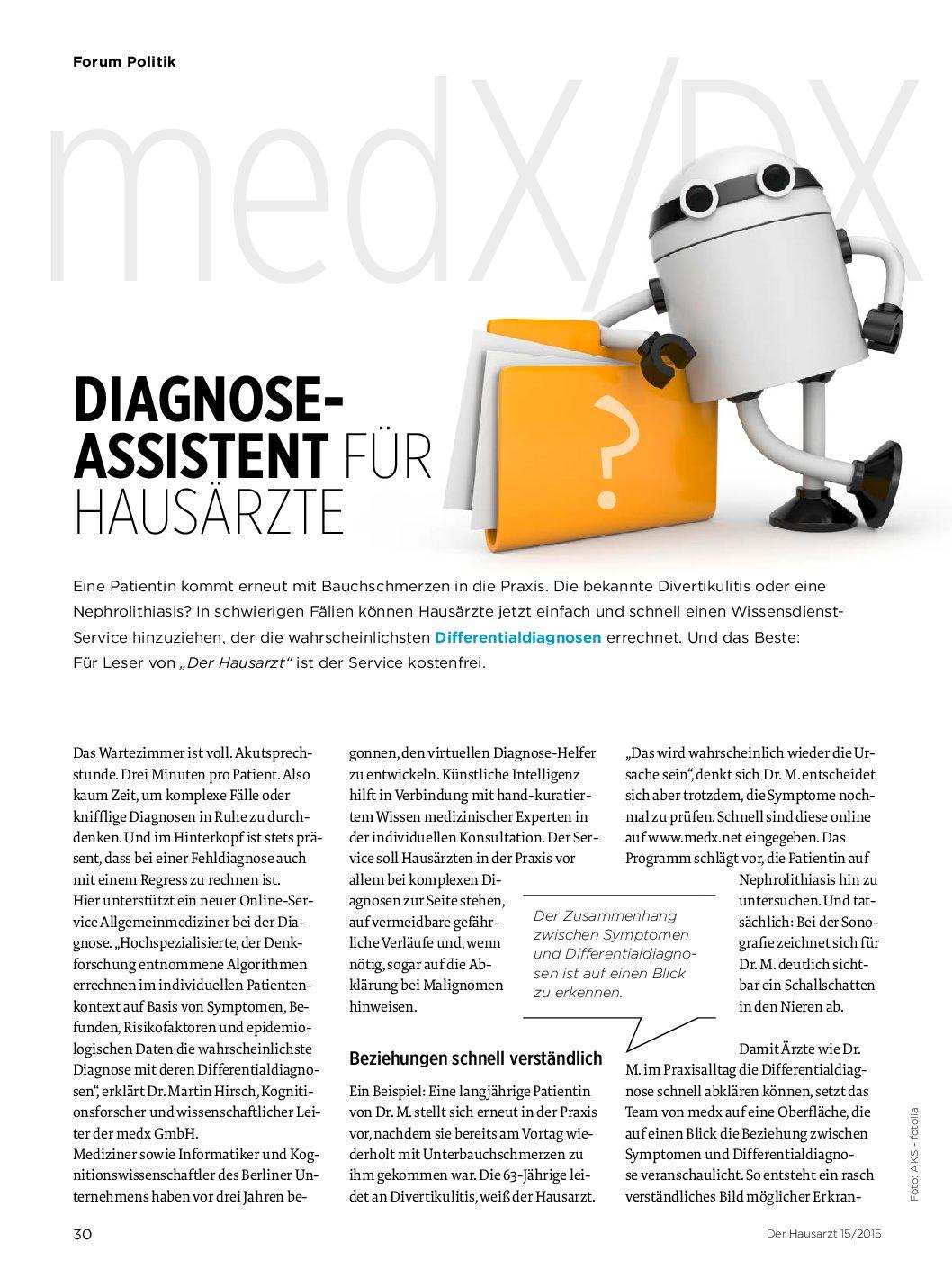 Diagnose-Assistent für Hausärzte – Der Hausarzt