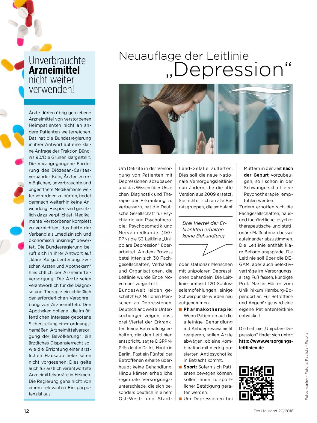 stationäre behandlung depression