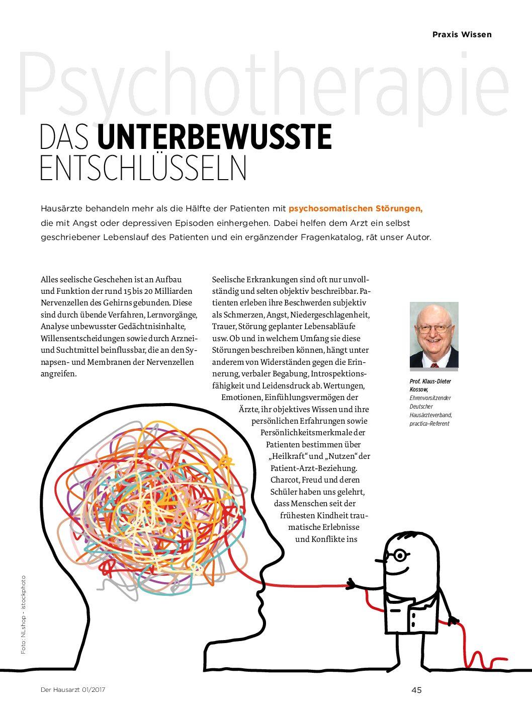 Psychotherapie: Das Unterbewusste entschlüsseln – Der Hausarzt