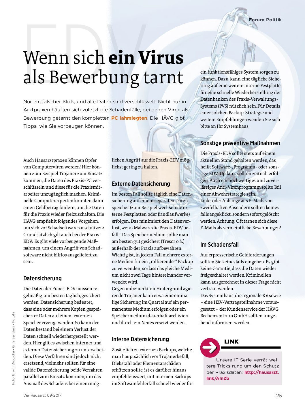 Wenn Sich Ein Virus Als Bewerbung Tarnt Der Hausarzt