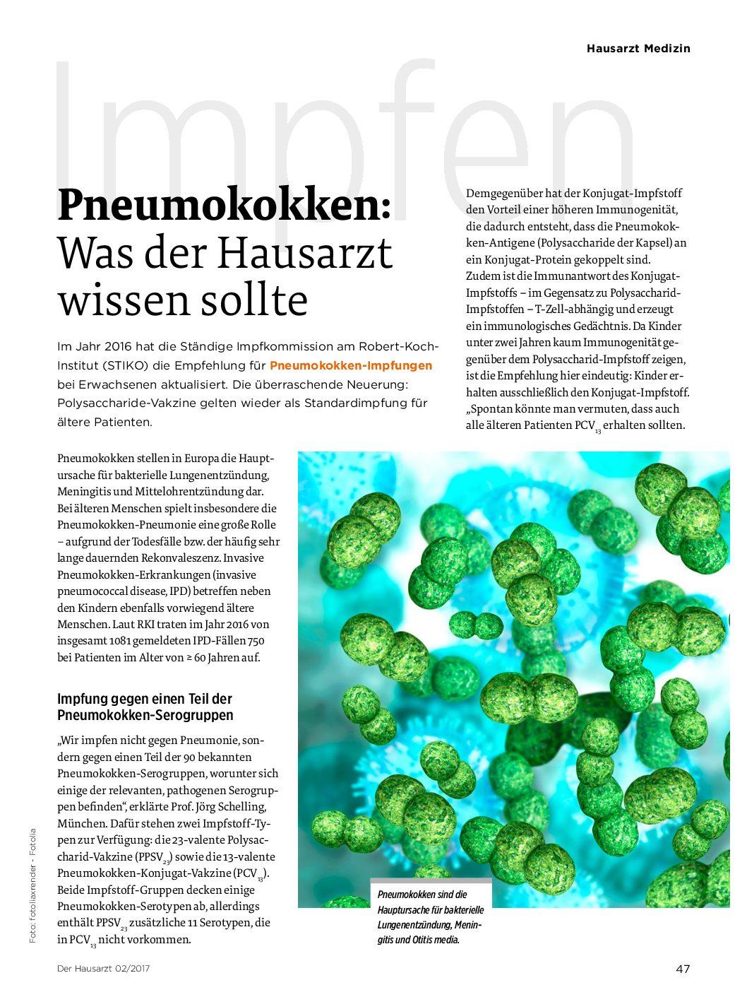 impfen gegen pneumokokken