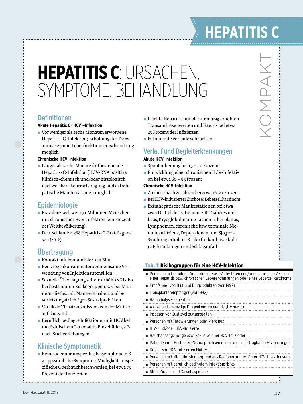 chronische hepatitis c