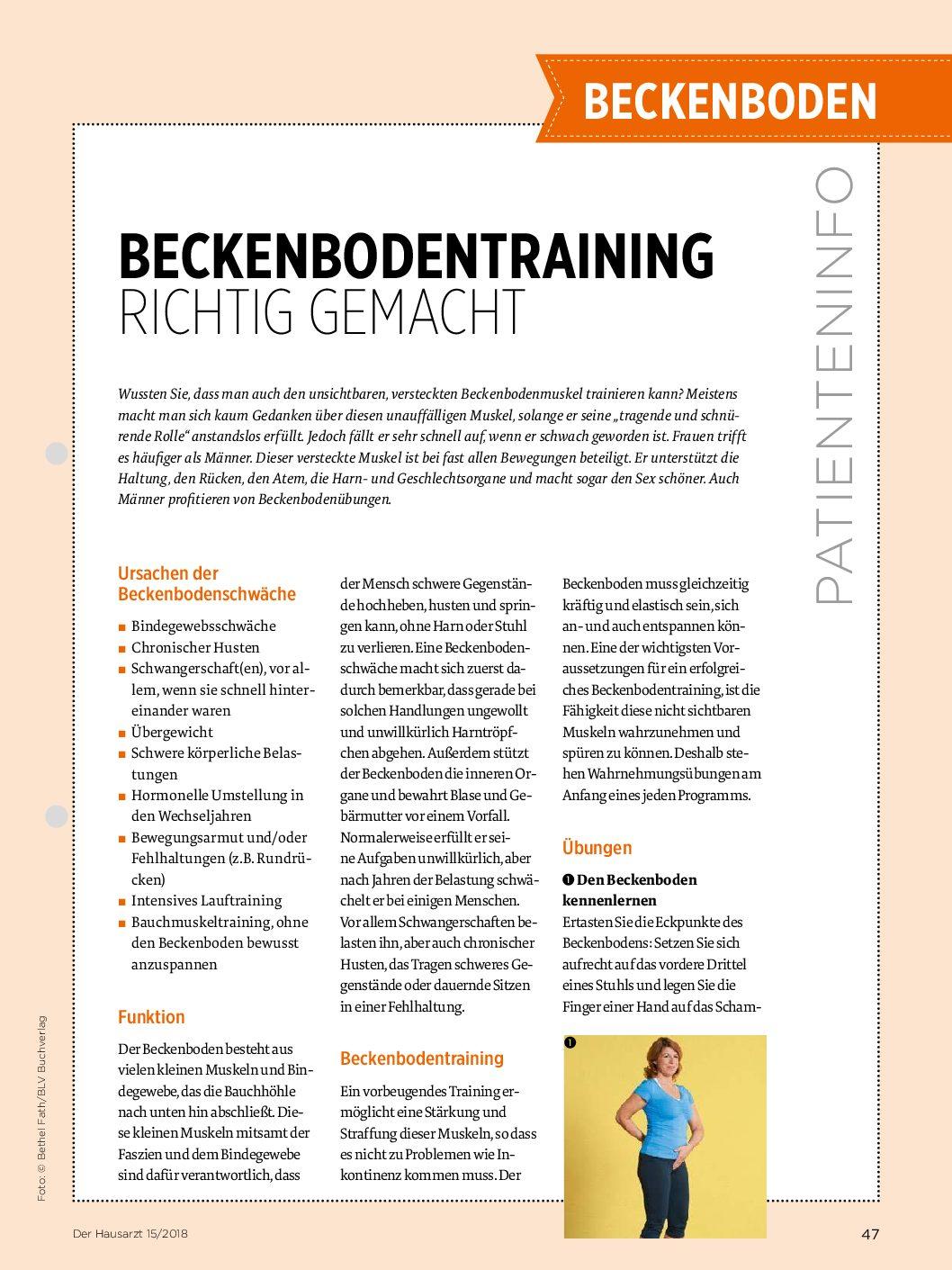 Mann pdf beckenbodentraining übungen Inkontinenz, Beckenbodentraining