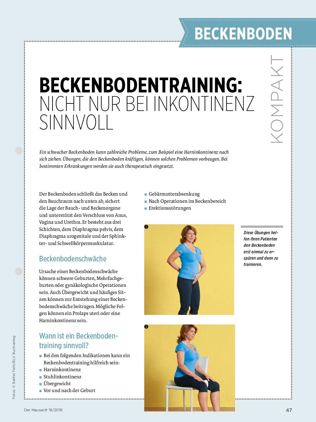 Beckenbodentraining: Nicht nur bei Inkontinenz sinnvoll